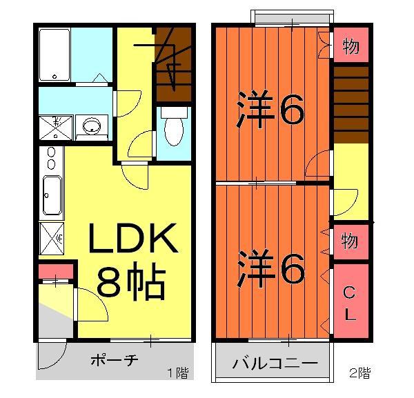DUPLEX細井・A-106号室の間取り