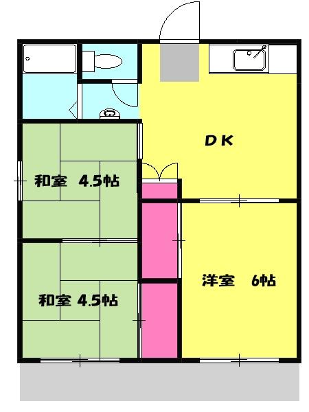 石川ハイツB・107号室の間取り
