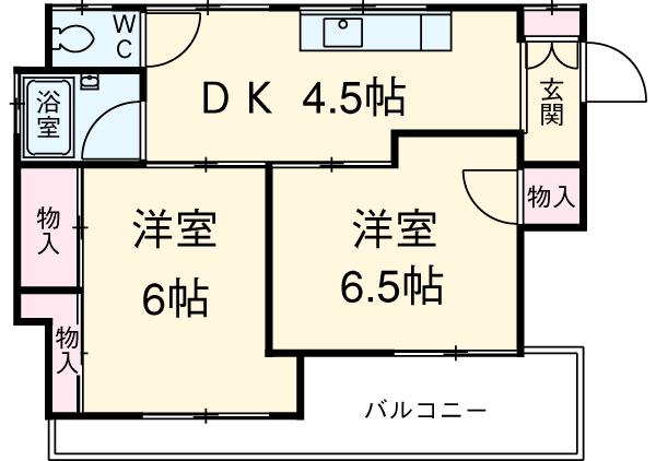伊藤水産コーポ・302号室の間取り