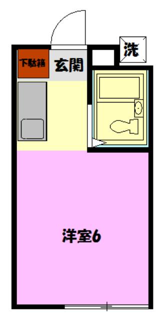 レモンホームすすきの・102号室の間取り