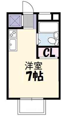 メゾンド貝塚・101号室の間取り