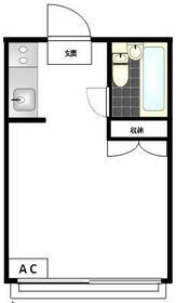 プラザドゥハイネスC・205号室の間取り