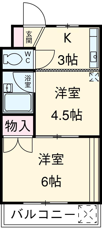 清新三興ハイツ・B-30号室の間取り