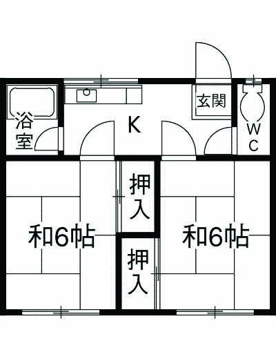 中川荘・202号室の間取り