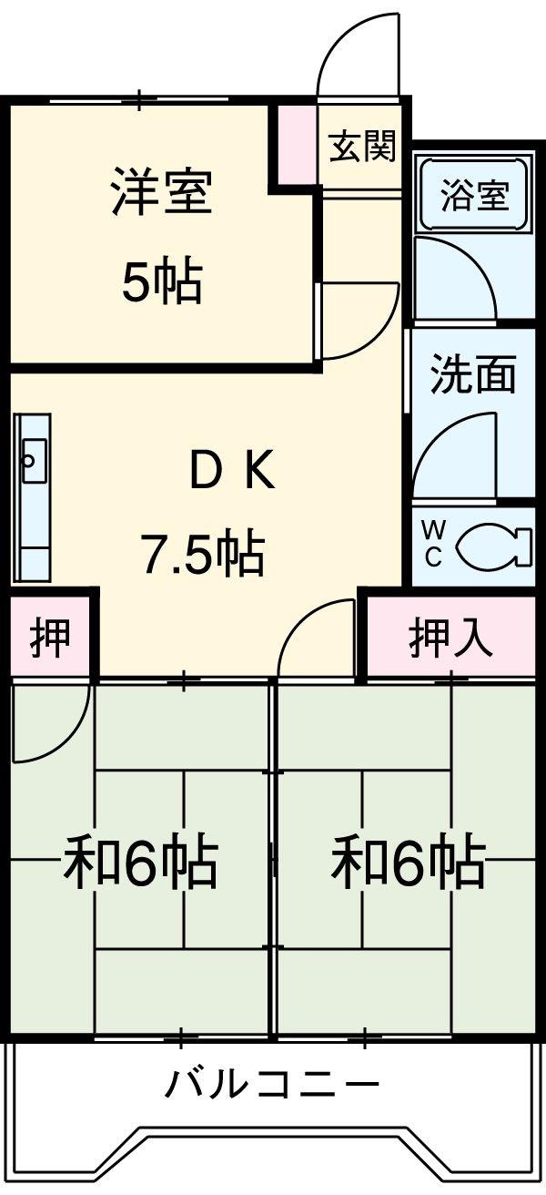 第2豊嶋ビル 306号室の間取り