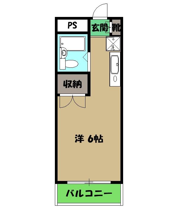 瀬川ビル 105号室の間取り