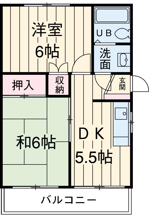 Kハウス・205号室の間取り