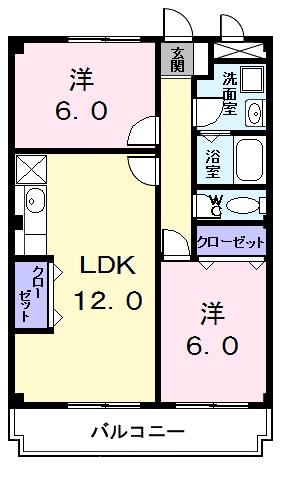 パークサイドジョイ 03020号室の間取り