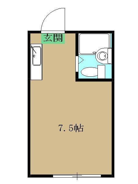 第三ビル 102号室の間取り