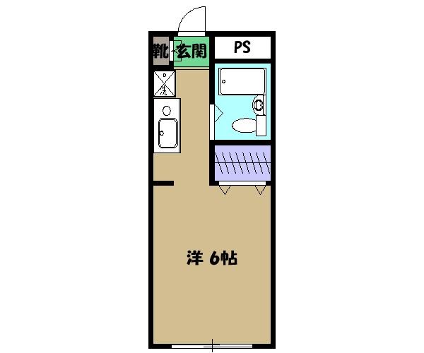 メゾン・ドゥ・ラ・ジュネス・101号室の間取り