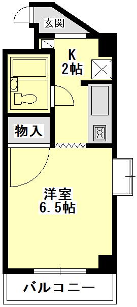 ジュネス瓢箪山 5D号室の間取り