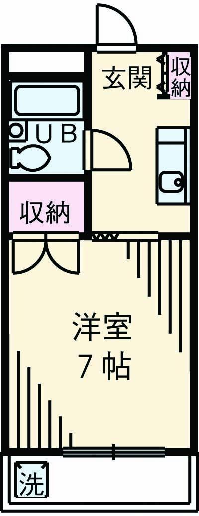 長沼田口ハイツ 402号室の間取り