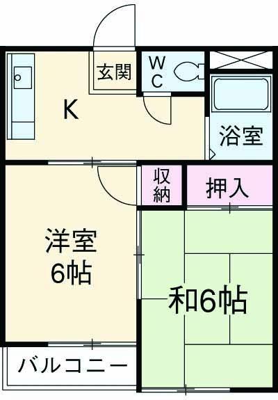 ふじハイツ・301号室の間取り