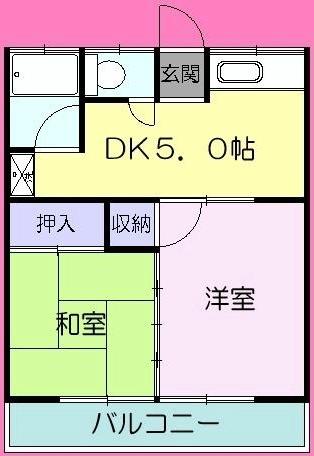 コーポヨコヤマ・103号室の間取り
