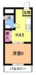 コーポ八田 301号室の間取り