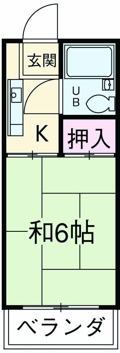 コーポ田所・305号室の間取り