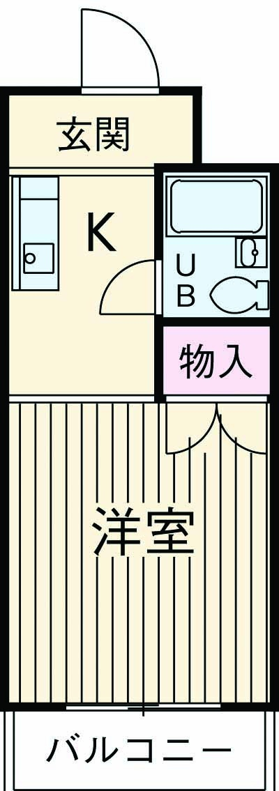横川田口ビル 206号室の間取り