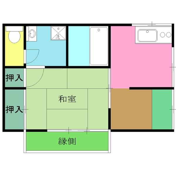 品田アパート・1号室の間取り