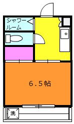 菊井コーポ 302号室の間取り