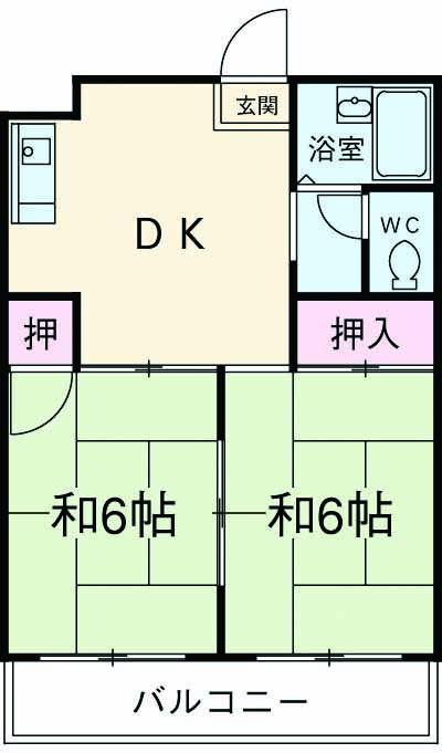 中澤ビル・102号室の間取り