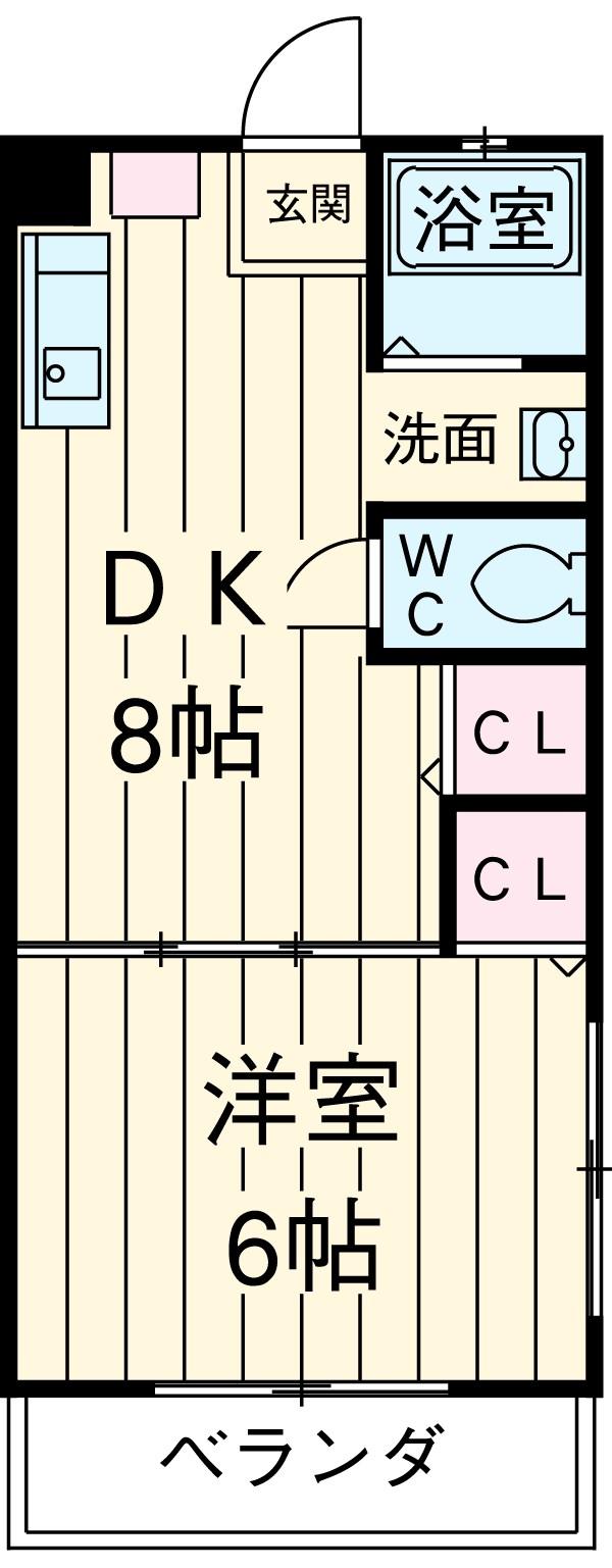 イナダマンション 504号室の間取り