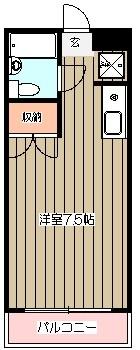 メゾン傘松・203号室の間取り