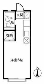 エステートピアFUJI(B) 102号室の間取り
