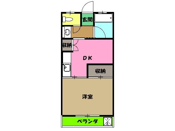 サンケーコーポ小宮・D302号室の間取り