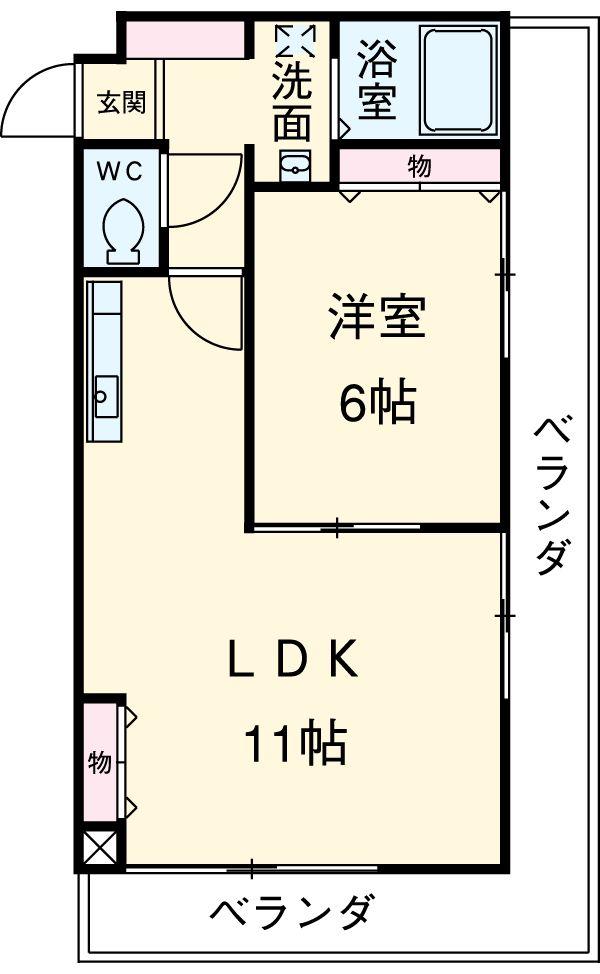 第3さくらマンション中央・907号室の間取り