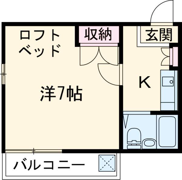 コートビレッジ桜ヶ丘パートⅡ B104号室の間取り