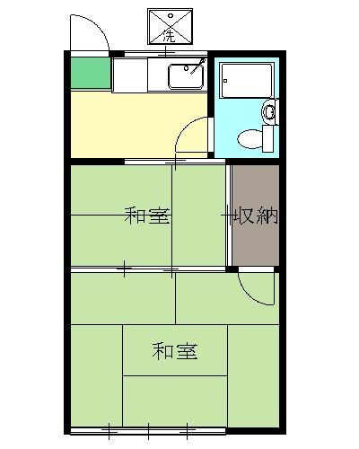 小林アパート・203号室の間取り