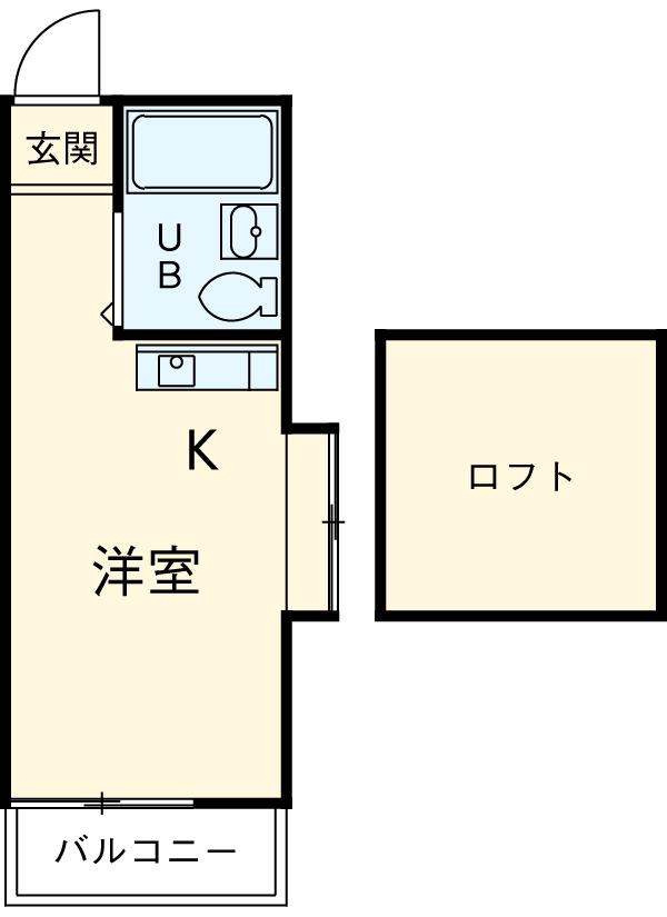 第九コーポ青木 201号室の間取り