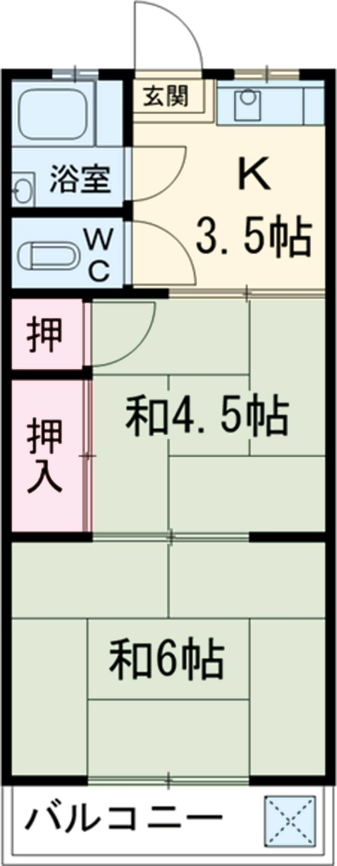 コーポ三広 203号室の間取り