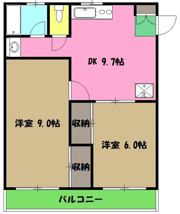 レオナマンション・103号室の間取り