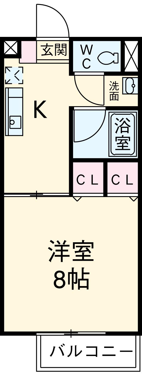 Ein Sakurai 103号室の間取り