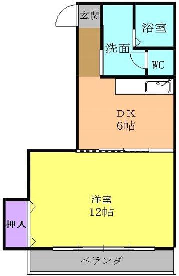 プレズ名古屋徳川 3B号室の間取り