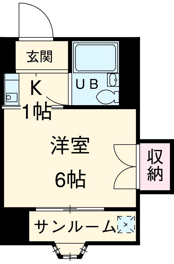 新清洲クラウンビル・302号室の間取り