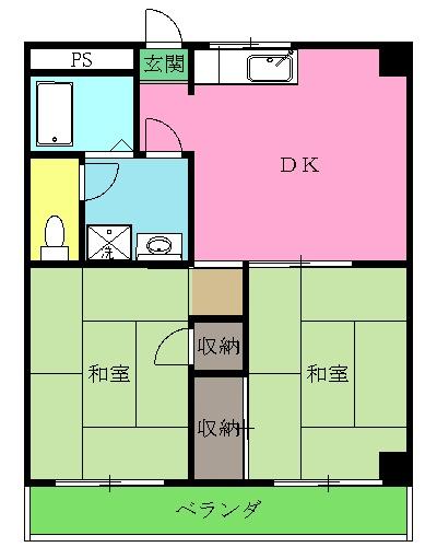 高倉ビル・305号室の間取り