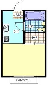 フラワーハイム・218号室の間取り