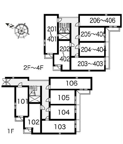 レオパレスRX小幡 406号室の風呂
