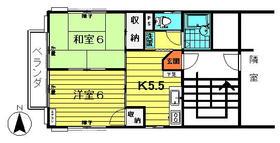 粟沢荘・201号室の間取り