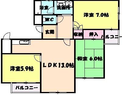 山八第5ビル・532号室の間取り
