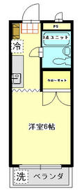 石井マンションピーコック・207号室の間取り
