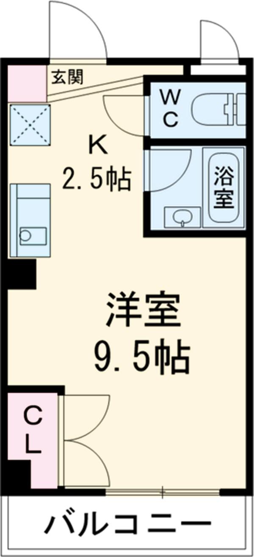 大口平和マンション 4B号室の間取り