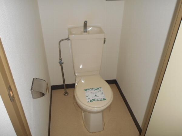 大口平和マンション 4B号室のトイレ