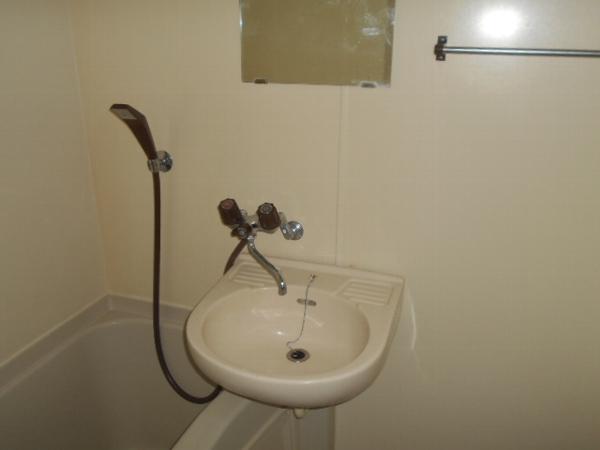 大口平和マンション 4B号室の洗面所