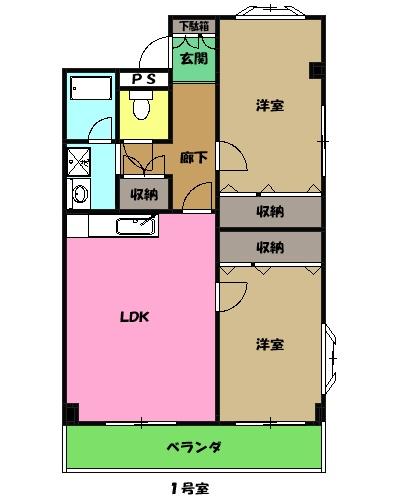 金子ハウス・302号室の間取り