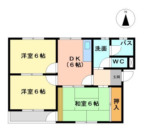サンファミリーⅡ 00201号室の間取り