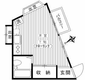 コーポ三沢台Ⅱ(ペットOK)・201号室の間取り
