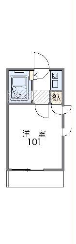 レオパレス下小田井 107号室の間取り